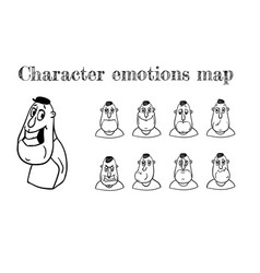 Map of emotions vector