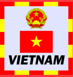 official ensigns flag and coat of arm of vietnam vector image