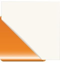 Orange paper corner vector image