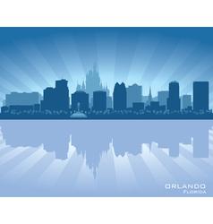 Orlando Florida skyline city silhouette vector image vector image