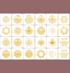 ornamental gold symbols set vector image