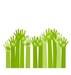 raising hands vector image vector image