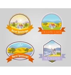 Rural Landscape Set vector image vector image