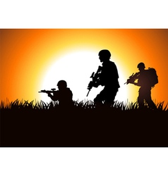 Soldier On Field vector image