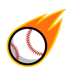 sport ball fire baseball vector image