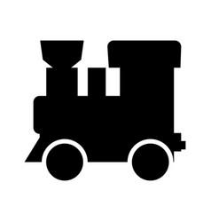 Steam locomotive - train black color icon vector