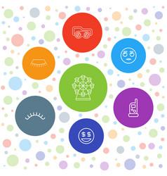 7 eye icons vector
