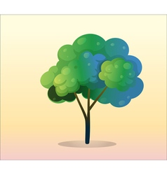 A big green tree vector image