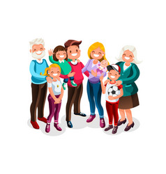 babig family portrait vector image