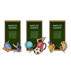 Back to school set of banners vector image