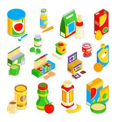bafood icons set vector image