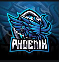 blue phoenix sport mascot logo vector image