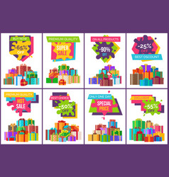 buy now best sale exclusive product set of posters vector image