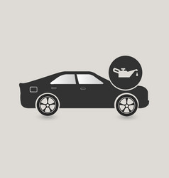Car oil change icon vector