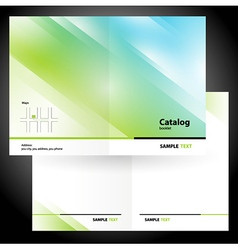 Catalog booklet folder brochure colorful design vector