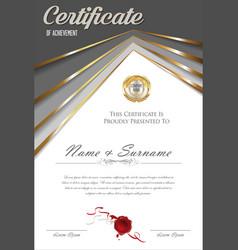 Certificate or diploma retro design template 0324 vector