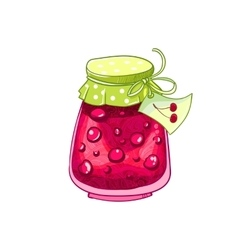 Cherry jam vector image