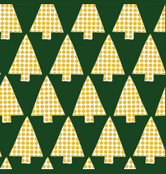 christmas tree in rows seamless pattern vector image