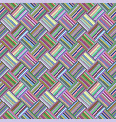 colorful geometric diagonal striped tile mosaic vector image