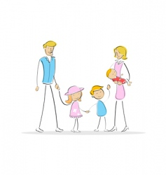 complete family vector image vector image