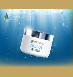 cream with vitamins aqua and coenzyme vector image