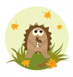 cute hedgehog vector image