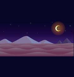 Desert night game background vector