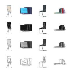 Design of furniture and work symbol vector