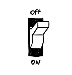 Doodle electricity switcher on off vector