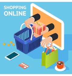 E-commerce or online shopping concept vector