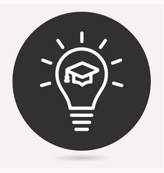 E-learning education icon learn academic study vector