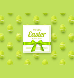 easter holiday greeting card vector image