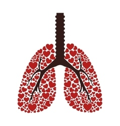 Ecological lungs isolated icon vector image