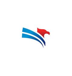 Elegant eagle logo design template vector