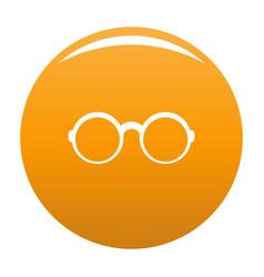 Eyeglasses for reading icon orange vector