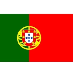 Flag of Portugal in correct proportions and colors vector image