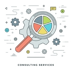 Flat line Consulting Services Concept vector