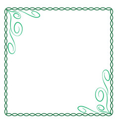 frame green 5 2210 vector image