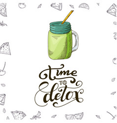 fresh drink menu template design banner with vector image