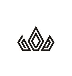 god jesus crown king christian catholic logo vector image
