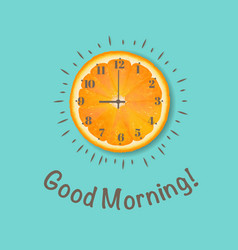 Good morning banner orange postcard vector