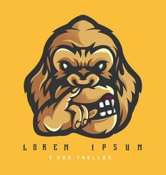 gorilla logo design vector image
