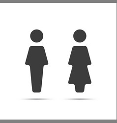 Grey wc icon toilet vector