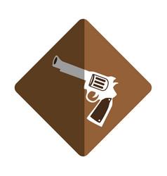 gun wild west icon vector image