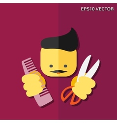 Hairdresser flat icon vector