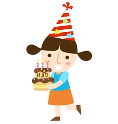 hbd girl vector image vector image