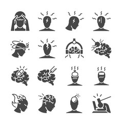 headache icon set vector image
