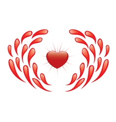Heart and drops vector