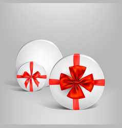 holiday white box set vector image