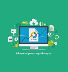 Information processing and analysis vector